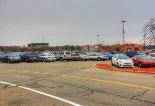 parking lot stop