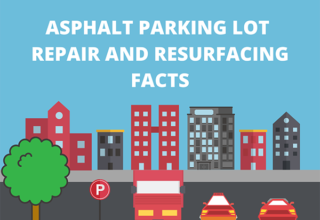 asphalt parking lot repair infographic
